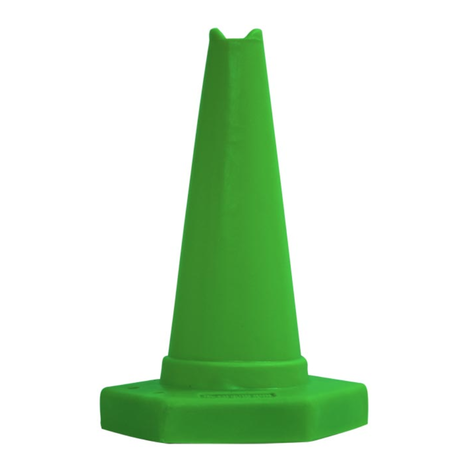 small coloured marker cones for use in sports games