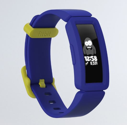 fit bit blue kids wrist watch and fitness tracker