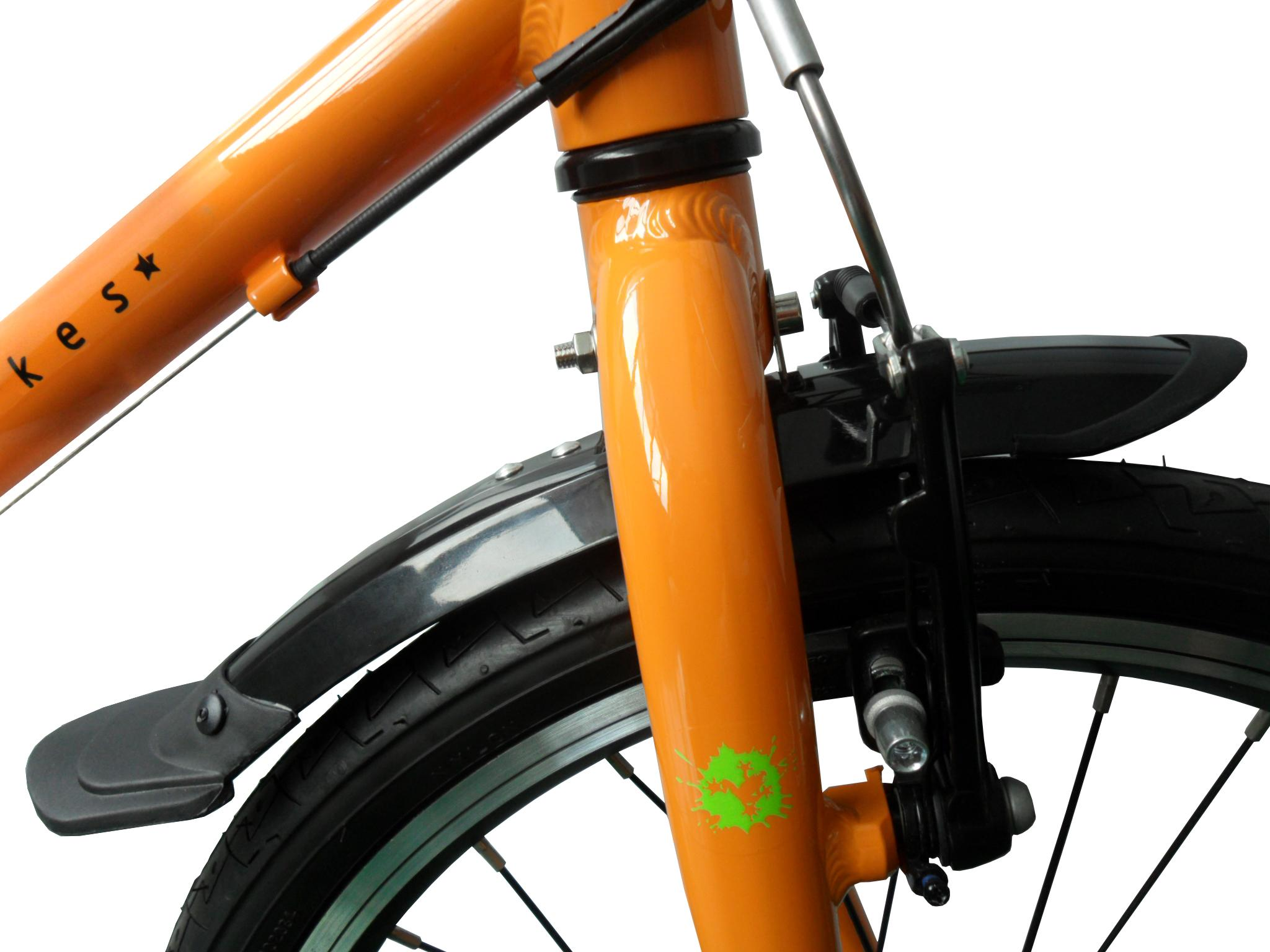 image of a child's bike with a mudguard on the front wheel