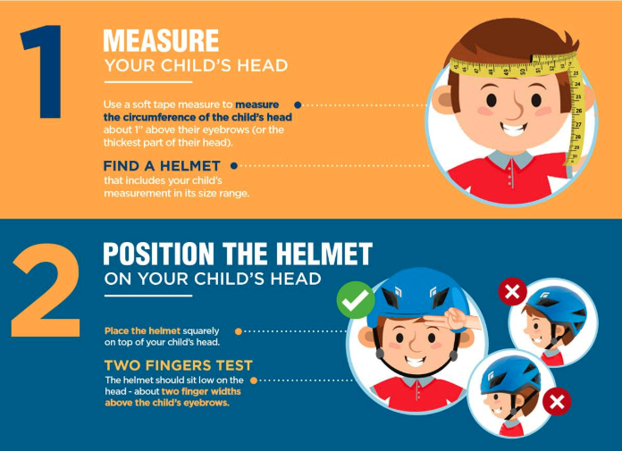how to measure a child for a bike helmet