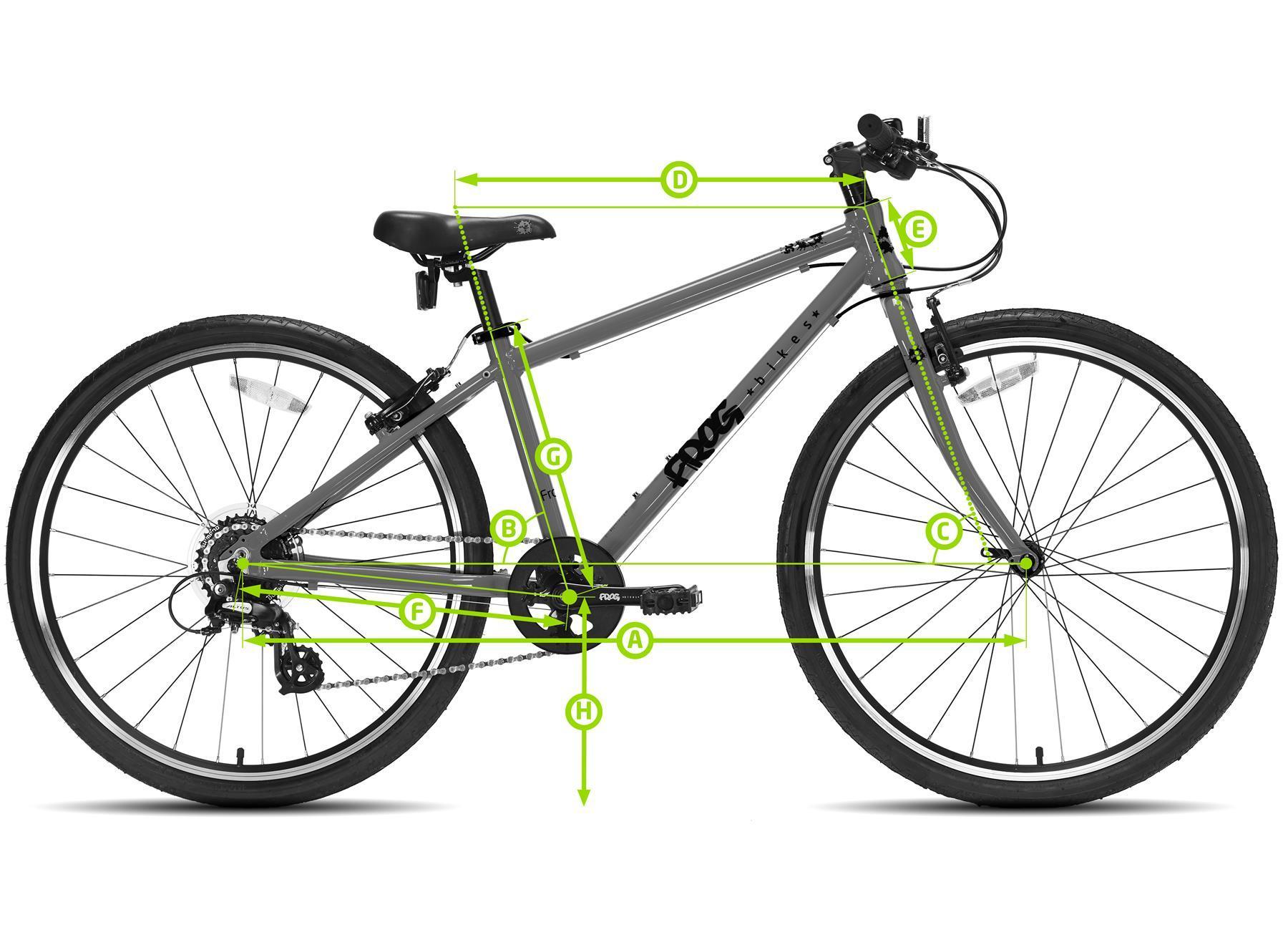 Frog First Pedal 62 Bike Geometry