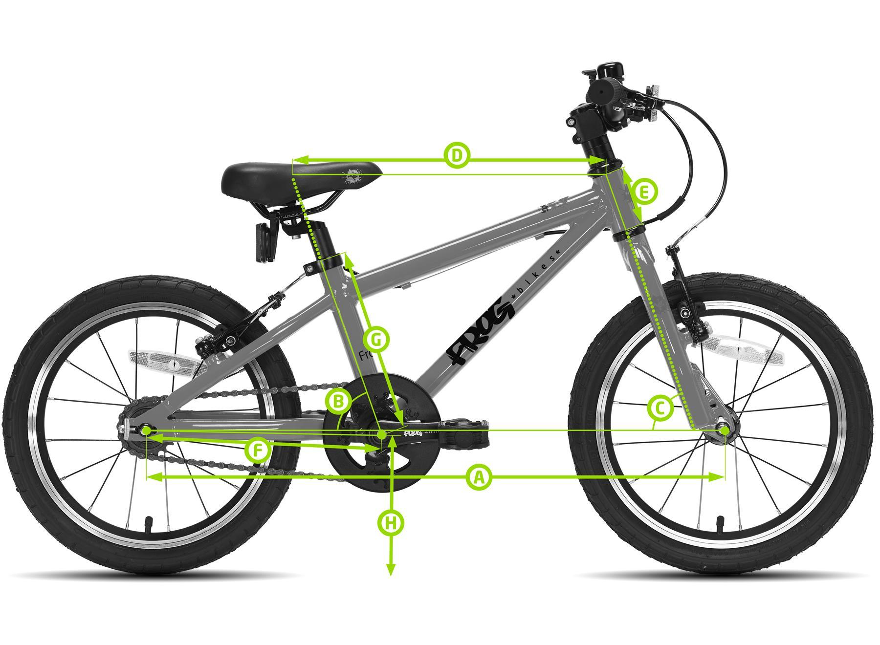 Frog First Pedal 40 Bike Geometry